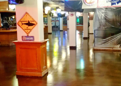 Restaurant flooring options, Restaurant decorative floor, Diamond wear urethane top-coat